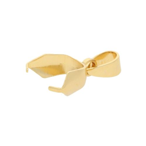 Pinch bail / with loop / surgical steel / 17x5mm / gold / 2pcs