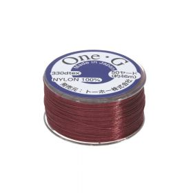 One-G ™ / nylon thread for beads / burgundy / 0.35mm thick / 46m