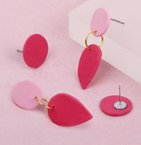 Raspberry Droplet Earrings