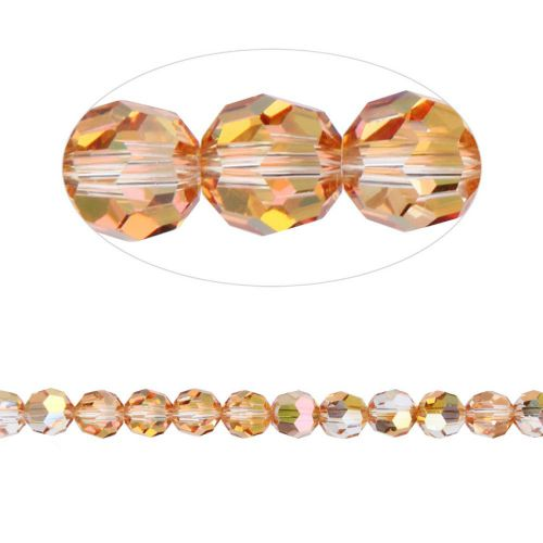 5000 Swarovski Crystal Faceted Rounds 6mm Crystal Metallic Sunshine Pk12