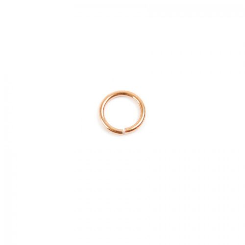 Rose Gold Plated Sterling Silver 925 Jump Rings 4mm Pk10