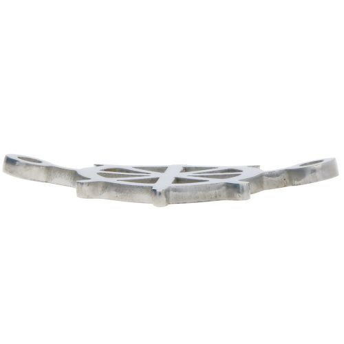 Wheel / connector / surgical steel / 21x15x1.4mm / silver / 1pcs