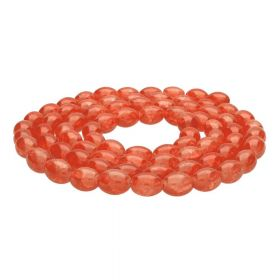 Mistic™ / oval / 10x8mm / orange / 75pcs