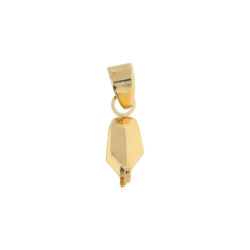Pinch bail / with loop / surgical steel / 15x4mm / gold / 2pcs