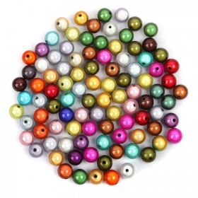 Multi Colour Miracle Illusion Bubblegum Round Beads 14mm Pk100