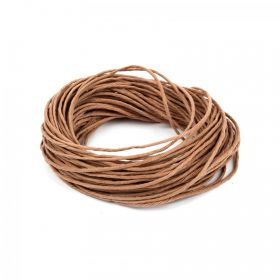 Natural Hemp Semi Waxed Braiding Cord 1.5mm 10metre