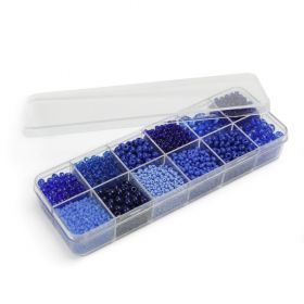 Preciosa Brilliant Blue Seed Bead Selection 12x11g Box Set