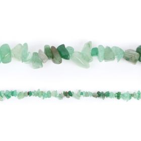 "Green Aventurine Chip Beads 4-8mmx10-14mm 33"" Strand"