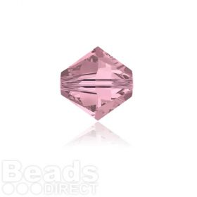 5328 Swarovski Crystal Bicones 4mm Crystal Antique Pink Pk1440