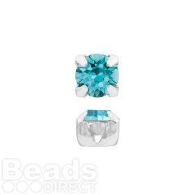 53200 Swarovski Crystal Chaton Montee 4mm SP Light Turquoise Pk24