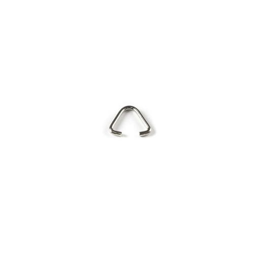 X Silver Plated Triangle Jumprings 10mm Pk10
