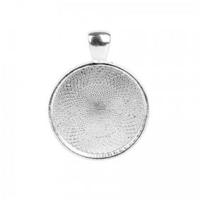Lisa Pavelka Silver Plated Round Shaped Bezel 27mm Pk1