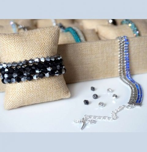 How to make a jewellery wire beaded bracelet – jewellery making for beginners