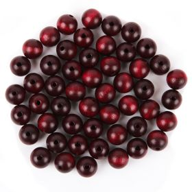 Preciosa Wood Beads 12mm Bordeaux Pk50
