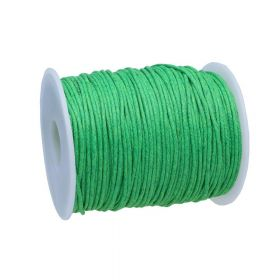 Waxed cord / 1.5mm / green / 72m