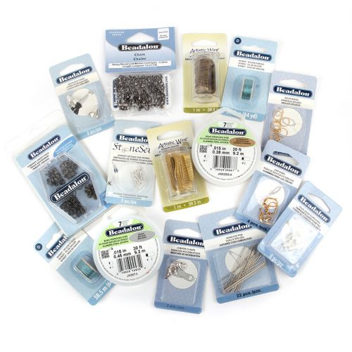 Beadalon Grab Bag Containing Wire, Findings and Accessories approx. 15 Pieces