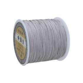 Macramé™ / Macramé cord / nylon / 0.8mm / grey / 100m