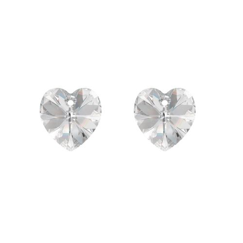 6228 Swarovski Crystal Hearts 10mm Crystal Clear Pk2