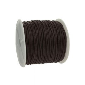 Waxed cord / dark brown / 2.0mm / 72m