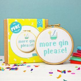The Make Arcade Cross Stitch More Gin Please Kit
