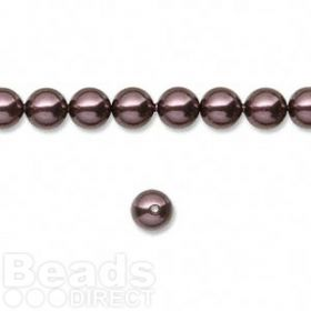 5810 Swarovski Glass Pearls 6mm Burgundy Pk50