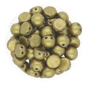 CZECHMATES ™ / glass beads / Cabochon / 7mm / Saturated Metallic / Spicy Mustard / 5g