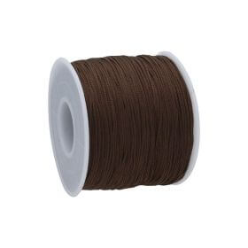 Macramé™ / Macramé cord  / nylon / 0.6mm / dark brown / 135m