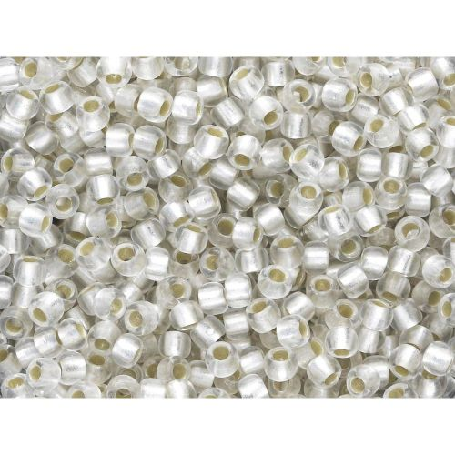 TOHO™ / Round 8/0 / Silver-Lined Frosted / Crystal /10g