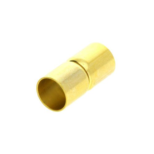 Magnetic clasp / surgical steel / dumbbells / 19x9x9mm / gold / hole 8mm / 1pcs
