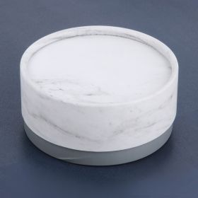 Marble and Grey Round Large Premium Jewellery Gift Box 5x10.5cm Pk1