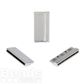 Antique Silver Plated Magnetic Large Clasp 21x43mm Pk1