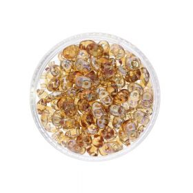 SuperDuo™ / glass beads / 2.5x5mm / Celsian / Crystal / 10g / ~140pcs