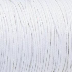 Waxed cord / 1.5mm / white / 1m