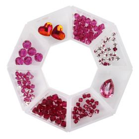 Pink Yarrow - Bead Selection in Storage Ring with Swarovski