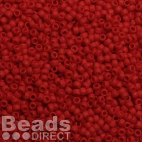 Toho Size 8 Round Seed Beads Opaque Frosted Cherry 10g
