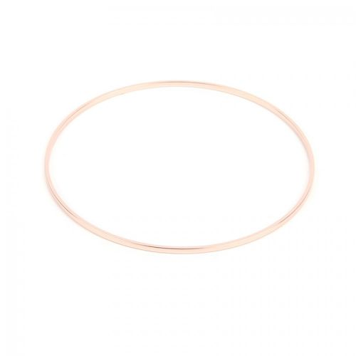 Rose Gold Plated Flat Wire Round Bangle 63mm Pk1
