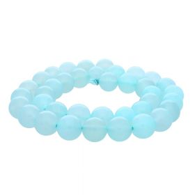 Chalcedony / round / 10mm / light blue / 38pcs