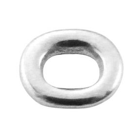 Oval / connector / surgical steel / 10x9mm / silver / 1pcs