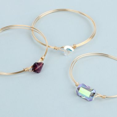 Wire Wrapped Bangles | Take a Make Break