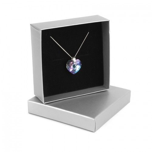 Sterling Silver 925 Heart Necklace Vitrail Med made with Swarovski