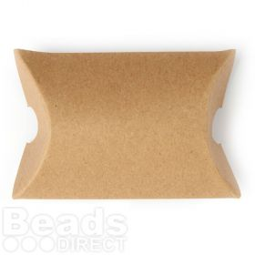 Large Natural Brown Pillow Gift Box 9x8x3cm Pk1