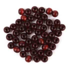 Preciosa Wood Beads 8mm Brown Pk50