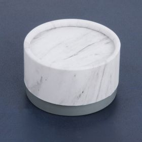 Marble and Grey Round Medium Premium Jewellery Gift Box 4x6.5cm Pk1