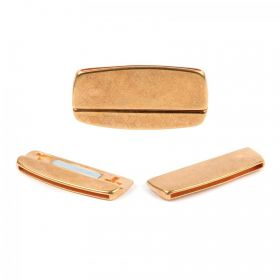 Gold Plated Zamak Hammered Irregular Magnet Clasp 22x45mm