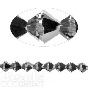 5328 Swarovski Crystal Bicones 6mm Crystal LightChrome Pk24
