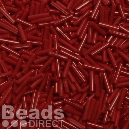 Toho Bugle Seed Beads Size 3 9mm Opaque Pepper Red 10g