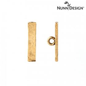 Nunn Design Antique Gold Small Hammered Toggle Bar 4x19mm Pk1