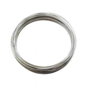 Memory wire / surgical steel / diameter 60mm / oxidized / wire 0.6mm / 40 loops