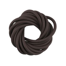 Leather cord / natural / round / 4mm / dark brown / 2m