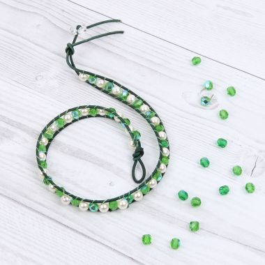 Greenery Crystal Wrap Bracelet